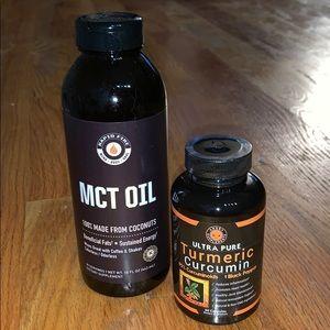 Health Bundle: New Turmeric Curcumin & MCT Oil $40